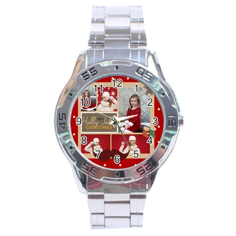 Xmas By Xmas   Stainless Steel Analogue Watch   Euiuda3fq10u   Www Artscow Com Front