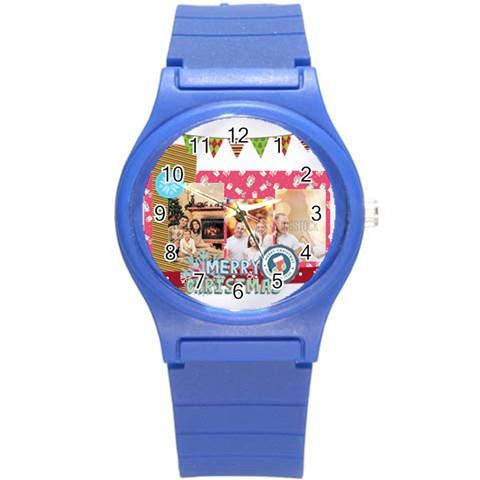 Xmas By Xmas   Round Plastic Sport Watch (s)   4al3zbo5e3jd   Www Artscow Com Front