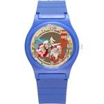 xmas - Round Plastic Sport Watch (S)