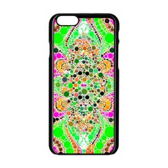 Florescent Abstract  Apple Iphone 6 Black Enamel Case by OCDesignss