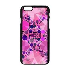 Pink Bling  Apple Iphone 6 Black Enamel Case by OCDesignss
