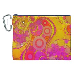 Super Bright Abstract Canvas Cosmetic Bag (xxl) by OCDesignss