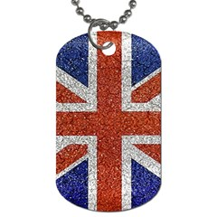 England Flag Grunge Style Print Dog Tag (one Sided) by dflcprints