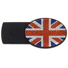 England Flag Grunge Style Print 4gb Usb Flash Drive (oval) by dflcprints