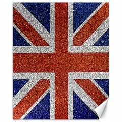 England Flag Grunge Style Print Canvas 16  X 20  (unframed) by dflcprints