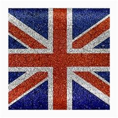 England Flag Grunge Style Print Glasses Cloth (medium, Two Sided)
