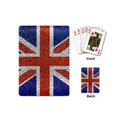England Flag Grunge Style Print Playing Cards (mini) by dflcprints