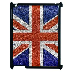 England Flag Grunge Style Print Apple Ipad 2 Case (black) by dflcprints