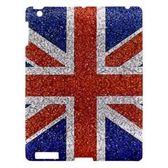 England Flag Grunge Style Print Apple Ipad 3/4 Hardshell Case by dflcprints