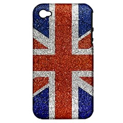 England Flag Grunge Style Print Apple Iphone 4/4s Hardshell Case (pc+silicone) by dflcprints