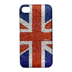 England Flag Grunge Style Print Apple Iphone 4/4s Hardshell Case With Stand by dflcprints