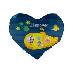 Kids By Kids   Standard 16  Premium Flano Heart Shape Cushion    T96hbmb9hi86   Www Artscow Com Front