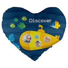 Kids By Kids   Large 19  Premium Flano Heart Shape Cushion   Vn0jfs10if25   Www Artscow Com Front