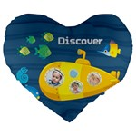 kids - Large 19  Premium Flano Heart Shape Cushion