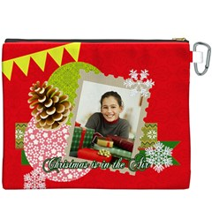Christmas By Merry Christmas   Canvas Cosmetic Bag (xxxl)   Av3udt18n0tq   Www Artscow Com Back