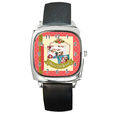 Xmas By Xmas   Square Metal Watch   Usszguj6ndnw   Www Artscow Com Front