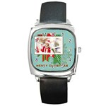 xmas - Square Metal Watch