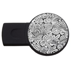Floral Swirls 2gb Usb Flash Drive (round) by odias