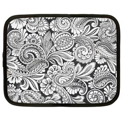 Floral Swirls Netbook Sleeve (xl) by odias