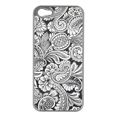 Floral Swirls Apple Iphone 5 Case (silver) by odias