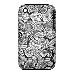 Floral Swirls Apple Iphone 3g/3gs Hardshell Case (pc+silicone) by odias