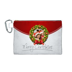 Xmas By Mac Book   Canvas Cosmetic Bag (medium)   2ricl5h6rio4   Www Artscow Com Front