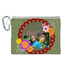 Kids Thank  By Jacob   Canvas Cosmetic Bag (large)   1ayecufc7b2g   Www Artscow Com Front