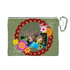 Kids Thank  By Jacob   Canvas Cosmetic Bag (large)   1ayecufc7b2g   Www Artscow Com Back