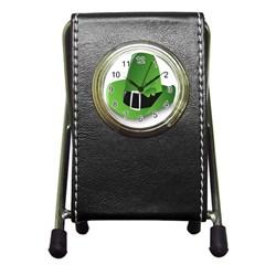 Irish Shamrock Hat152049 640 Stationery Holder Clock by Colorfulart23