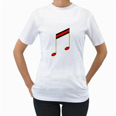 Vintage Music Note Women s T Shirt (white)  by goodmusic