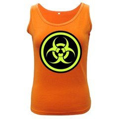 Biohazard Bold Sign Women s Tank Top (dark Colored) by goodmusic
