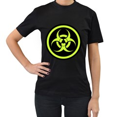 Biohazard Bold Sign Women s T Shirt (black) by goodmusic