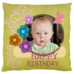 Birthday By Jacob   Large Flano Cushion Case (two Sides)   Atnqwodrl2lc   Www Artscow Com Back