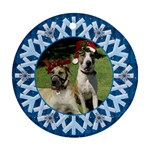 Pet Christmas Snowflake Ornament - Ornament (Round)