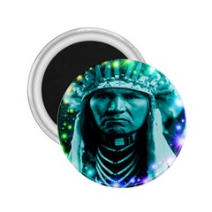 Magical Indian Chief 2 25  Button Magnet by icarusismartdesigns