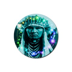 Magical Indian Chief Drink Coasters 4 Pack (round) by icarusismartdesigns