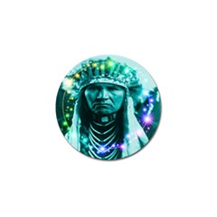 Magical Indian Chief Golf Ball Marker by icarusismartdesigns