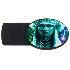 Magical Indian Chief 2GB USB Flash Drive (Oval) by icarusismartdesigns