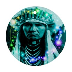 Magical Indian Chief Round Ornament (two Sides) by icarusismartdesigns