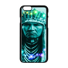 Magical Indian Chief Apple Iphone 6 Black Enamel Case by icarusismartdesigns