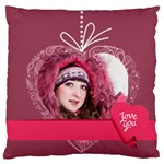 love - Large Flano Cushion Case (One Side)