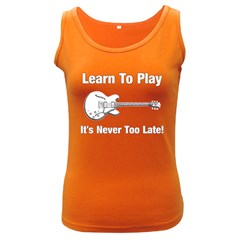 Learn To Play Electric Guitar Women s Tank Top (dark Colored) by goodmusic