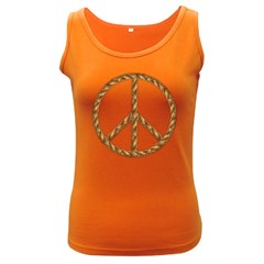 Peace,love,music Rope Women s Tank Top (dark Colored) by goodmusic