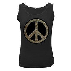 Peace,love,music Rusty Sign Women s Tank Top (Black) by goodmusic