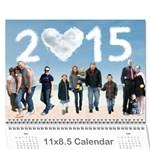 2015 - Wall Calendar 11  x 8.5  (12-Months)