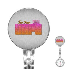 Vape For Your Life Abstract  Stainless Steel Nurses Watch