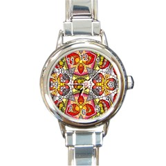 Crazy Lip Abstract Round Italian Charm Watch by OCDesignss