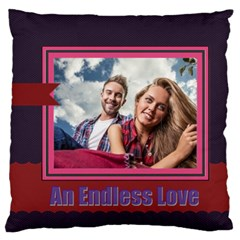 Love By Ki Ki   Large Flano Cushion Case (two Sides)   L33817b557ff   Www Artscow Com Back