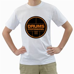 Drums Professional Men s T Shirt (white)  by goodmusic