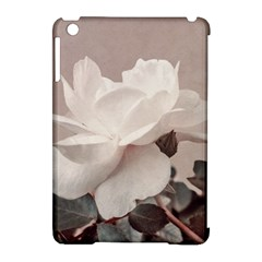 White Rose Vintage Style Photo In Ocher Colors Apple Ipad Mini Hardshell Case (compatible With Smart Cover) by dflcprints